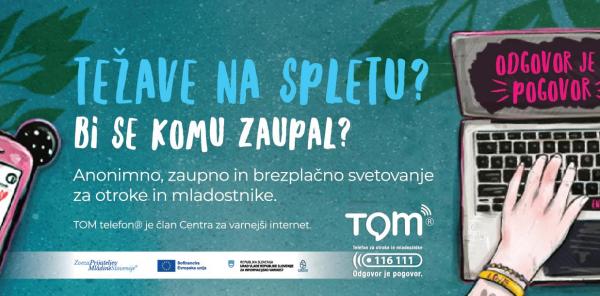 Nacionalna kampanja TOM telefona na temo varne rabe interneta